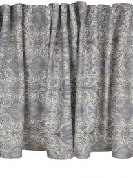 Gardinkappa Kappa ljusgrå blå Morris shabby chic lantlig stil