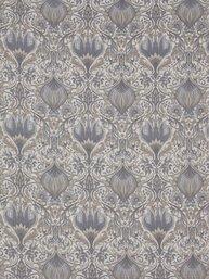 2 st Gardinlängder ljusgrå blå Morris shabby chic lantlig stil