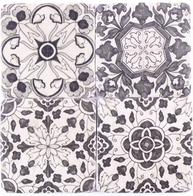 Underlägg glasunderlägg orient svart vit 4 set shabby chic lantlig stil