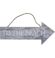 Skylt To the Beach trä shabby chic lantlig stil