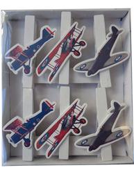 Klämmor klädnypor flygplan shabby chic lantlig stil