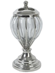 Tandborstglas Exlusiv Glas Silver shabby chic lantlig stil