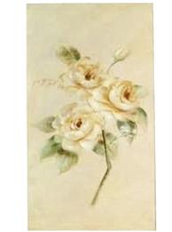 Stor handmålad tavla rosor nr 1 shabby chic lantlig stil