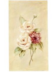 Stor handmålad tavla rosor nr 2 shabby chic lantlig stil