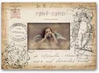 Fotoram antikt dokument ängel shabby chic lantlig stil
