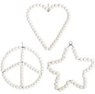 House Doctor 3 sorter Ornament Heart Star Peace hjärta stjärna fred
