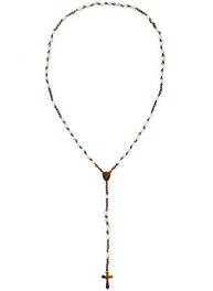 Radband rosenkrans pärlor och kors fransk lantstil shabby chic lantlig stil