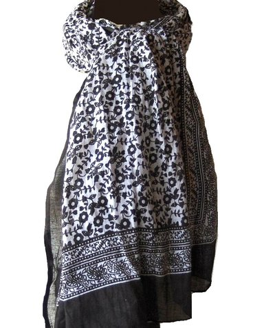 Sjal orient charcoal