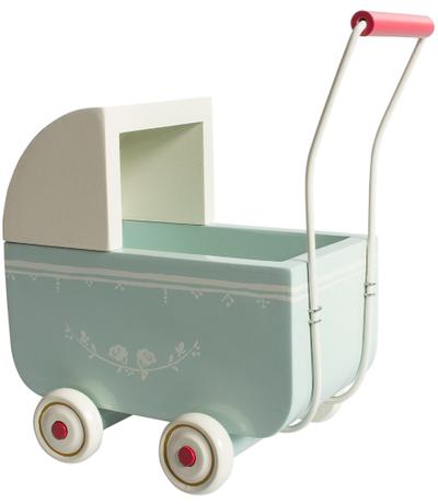 Barnvagn större Maileg ljus blå