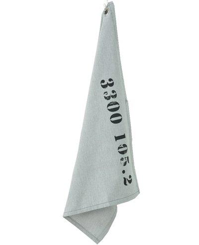 Kökshandduk handduk grå US PORT industristil shabby chic antlig stil