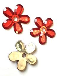 Dekoration blomma röd silver shabby chic lantlig stil