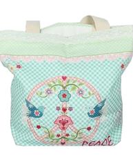 Väska bag blommig shabby chic lantlig stil