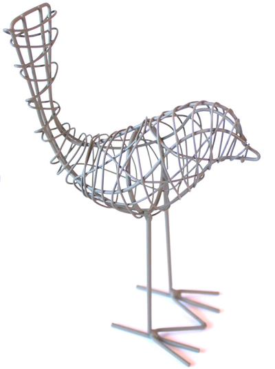Fågel zink luffarslöjd shabby chic lantlig stil