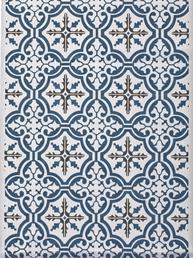 Löpare Mosaik blå shabby chic lantlig stil