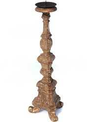 Kandelaber hög handskuren i trä antik stil shabby chic lantlig stil