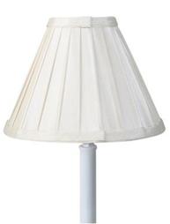 Lampskärm Stella vit veckad shabby chic lantlig stil