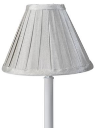 Lampskärm Stella grå veckad shabby chic lantlig stil