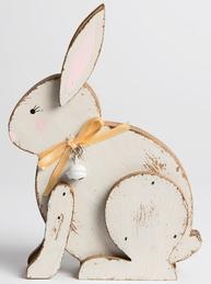 Kanin hare trä shabby chic lantlig stil