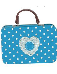 Plåtväska väska Blå prickig Maileg