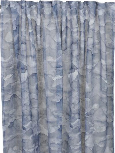 Gardinlängder Aqua Marin blå voile New England shabby chic lantlig stil