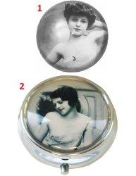 Sminkspegel vintage flicka 2 motiv shabby chic lantlig stil