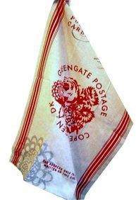 Tea towel postage linen greengate