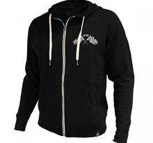 FASTHOUSE, FINISH LINE ZIP UP SWEATSHIRT, VUXEN, M, SVART