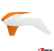 Kylarvingar KTM SX/SXF 125-450 13-15, EXC 14-> Vit/Orange
