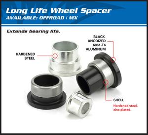 All Balls, Hjuldistanser Bak, Honda 02-21 CRF450R, 18-19 CRF450RX, 05-18 CRF450X, 00-07 CR250R, 04-21 CRF250R, 04-19 CRF250X, 00-07 CR125R