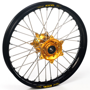 """Haan Wheels, Komplett Hjul, 1,60, 14"""", BAK, SVART GULD, Honda 07-21 CRF150R"""
