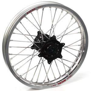 "Haan Wheels, Komplett Hjul, 1,60, 21"", FRAM, SILVER SVART, Honda 02-21 CRF450R, 95-07 CR250R, 04-21 CRF250R, 19 CRF250X, 95-07 CR125R"