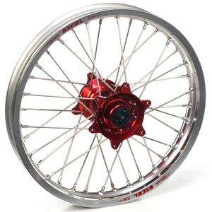 """Haan Wheels, Komplett Hjul, 1,60, 21"""", FRAM, SILVER RÖD, Honda 02-21 CRF450R, 95-07 CR250R, 04-21 CRF250R, 19 CRF250X, 95-07 CR125R"""