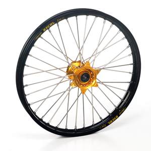 "Haan Wheels, Komplett Hjul, 1,60, 21"", FRAM, SVART GULD, Honda 02-21 CRF450R, 95-07 CR250R, 04-21 CRF250R, 19 CRF250X, 95-07 CR125R"