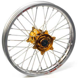 """Haan Wheels, Komplett Hjul SM, 5,00, 17"""", BAK, SILVER GULD, Honda 02-12 CRF450R, 04-13 CRF250R"""