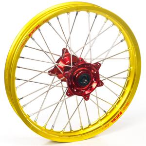 """Haan Wheels, Komplett Hjul, 1,85, 19"""", BAK, GUL RÖD, Honda 04-13 CRF250R, 02-07 CR125R"""