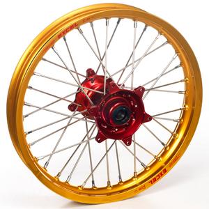 "Haan Wheels, Komplett Hjul, 1,40, 17"", FRAM, GULD RÖD, Kawasaki 01-20 KX85, 97-00 KX80"