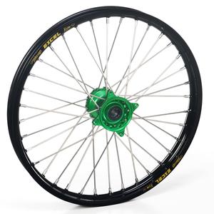 """Haan Wheels, Komplett Hjul, 1,40, 17"""", FRAM, SVART GRÖN, Kawasaki 01-20 KX85, 97-00 KX80"""