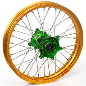 """Haan Wheels, Komplett Hjul, 1,40, 19"""", FRAM, GULD GRÖN, Kawasaki 01-20 KX85, 97-00 KX80"""