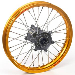 """Haan Wheels, Komplett Hjul, 1,60, 14"""", BAK, GULD GRÅ, Kawasaki 01-20 KX85, 97-00 KX80"""