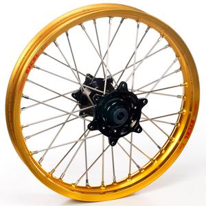 """Haan Wheels, Komplett Hjul, 1,60, 21"""", FRAM, GULD SVART, Kawasaki 95-05 KX250, 04-05 KX250F, 95-05 KX125, Suzuki 04-06 RM-Z250"""