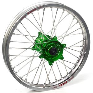 """Haan Wheels, Komplett Hjul, 1,60, 21"""", FRAM, SILVER GRÖN, Kawasaki 06-18 KX450F, 06-08 KX250, 19-20 KX250, 06-18 KX250F, 06-08 KX125"""