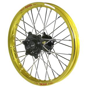 """Haan Wheels, Komplett Hjul, 1,60, 21"""", FRAM, GULD SVART, Kawasaki 06-18 KX450F, 06-08 KX250, 19-20 KX250, 06-18 KX250F, 06-08 KX125"""