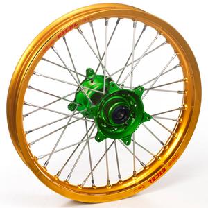 """Haan Wheels, Komplett Hjul, 1,60, 21"""", FRAM, GULD GRÖN, Kawasaki 06-18 KX450F, 06-08 KX250, 19-20 KX250, 06-18 KX250F, 06-08 KX125"""