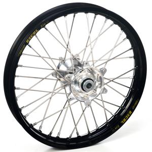 """Haan Wheels, Komplett Hjul, 1,60, 21"""", FRAM, SVART SILVER, Kawasaki 06-18 KX450F, 06-08 KX250, 19-20 KX250, 06-18 KX250F, 06-08 KX125"""