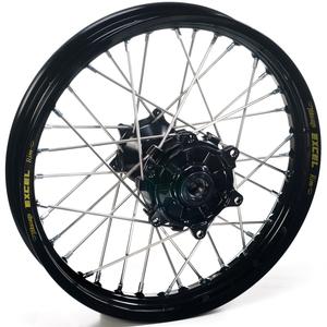 """Haan Wheels, Komplett Hjul, 1,60, 21"""", FRAM, SVART, Kawasaki 06-18 KX450F, 06-08 KX250, 19-20 KX250, 06-18 KX250F, 06-08 KX125"""