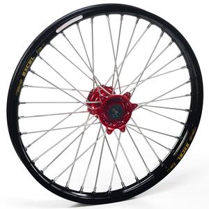 """Haan Wheels, Komplett Hjul, 1,60, 21"""", FRAM, SVART RÖD, Kawasaki 06-18 KX450F, 06-08 KX250, 19-20 KX250, 06-18 KX250F, 06-08 KX125"""