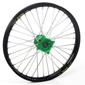 """Haan Wheels, Komplett Hjul, 1,60, 21"""", FRAM, SVART GRÖN, Kawasaki 06-18 KX450F, 06-08 KX250, 19-20 KX250, 06-18 KX250F, 06-08 KX125"""