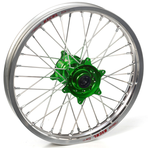"""Haan Wheels, Komplett Hjul, 1,85, 19"""", BAK, SILVER GRÖN, Kawasaki 19-20 KX450, 06-18 KX450F, 03-08 KX250, 19-20 KX250, 04-18 KX250F, 03-08 KX125"""