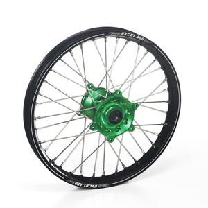 """Haan Wheels, Komplett Hjul A60, 2,15, 19"""", BAK, SVART GRÖN, Kawasaki 19-20 KX450, 06-18 KX450F, 03-08 KX250, 19-20 KX250, 04-18 KX250F, 03-08 KX125"""