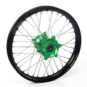 """Haan Wheels, Komplett Hjul, 2,15, 19"""", BAK, SVART GRÖN, Kawasaki 19-20 KX450, 06-18 KX450F, 03-08 KX250, 19-20 KX250, 04-18 KX250F, 03-08 KX125"""
